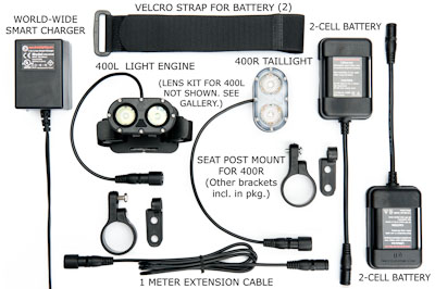 400L Road Rider's Experience headlight and taillight