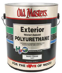 Old masters exterior water based clear polyurethane for Exterior water based paint