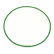 "Circle 11"" Standard Color Blank Patch"