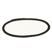Oval 2 x 3 1/2 Standard Color Blank Patch