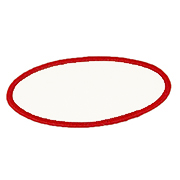 "Oval 3"" x 5"" OE3x5 Standard Color Blank Patch"
