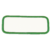 "Rectangle 2"" x 4"" R1.5 Standard Color Blank Patch"