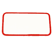 Rectangle 1 x 4.5 Standard Color Blank Patch