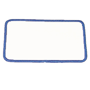 "Rectangle 3"" x 5"" R3x5 Standard Color Blank Patch"