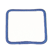 "Square 3.5"" S3.5 Standard Color Blank Patch"