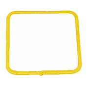 "Square 4.5"" S4.5 Standard Color Blank Patch"