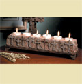 Stone Crosses Multiplie Tealight Holder