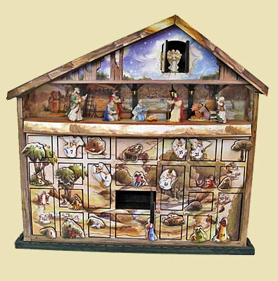 Nativity Advent Calendar Music Box