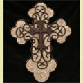 "Tan and Brown 18"""" Wall Cross"