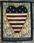 Liberty Heart Garden Flag