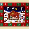 Wooden Nativity Calendar with Voice Chip