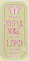Make a Joyful Noise Butterfly Wall Hanging