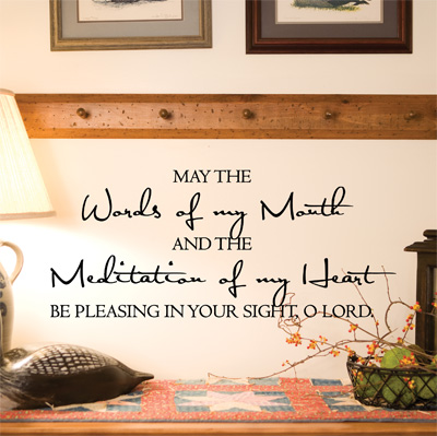 May the Words of My MouthVinyl Wall Decor with Scripture (Home