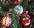 Peace, Joy & Hope Ornaments - Set of 3