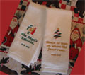 Christmas Velour Finger Towels