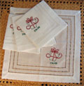 Christmas Gift Tea Napkins - Set of Four