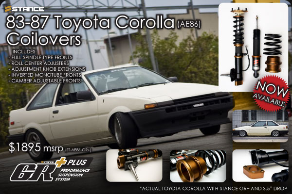 STANCE - AE86 Coilover Suspension System