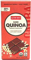 Dark Quinoa Crunch Organic Chocolate Bar by Alter Eco