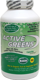 Raw Organic Active Greens Capsules by Bio International
