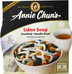 Annie Chun's Udon Noodle Bowl with Tofu and Bok Choy