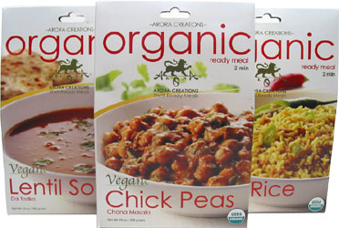 Arora Creations Organic Ready Meals