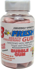 B Fresh Vegan Chewing Gum Bottles