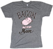 Bacon Had a Mom T-Shirt by Herbivore Clothing - Grey/Pink