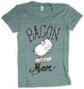 """Bacon Had a Mom"" Women's T-Shirt by Herbivore Clothing - Remixed Green"