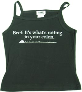 �Beef � It�s What�s Rotting in your Colon� Women�s Tank Top