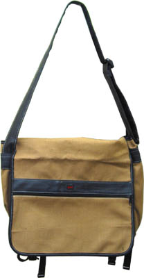 Hemp and Recycled Rubber Messenger Bag by Splaff