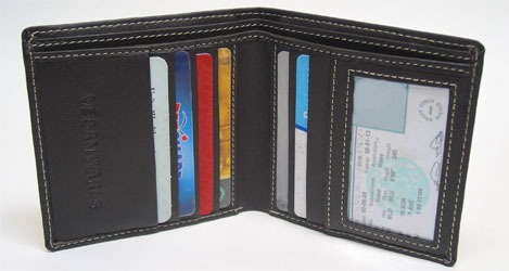 Bi-fold Wallet from VeganWares **NOW AVAILABLE IN BROWN**