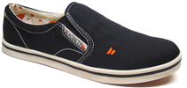 Womens Bronson Slip-On by MacBeth Footwear  Black/Cement