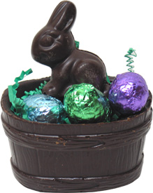Organic Chocolate Easter Basket with Bunny and Eggs by Sjaaks