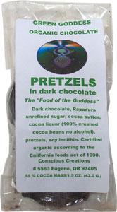 Dark Chocolate Covered Pretzels by Conscious Creations