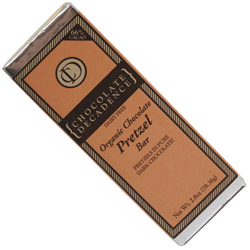 Organic Chocolate Pretzel Bar by Chocolate Decadence