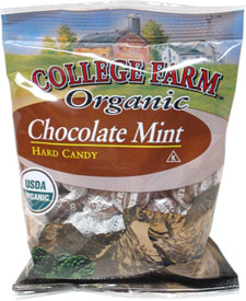 Organic Chocolate Mint Candies by College Farm Organics