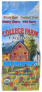 Organic Naturepops Lollipops by College Farm Organics