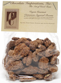 Vegan Cinnamon Sugar Pecans by Chocolate Inspirations