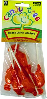 Organic Orange Lollipops by Candy Tree