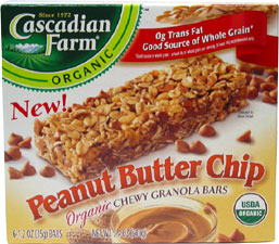 Organic Peanut Butter Chip Granola Bars by Cascadian Farm