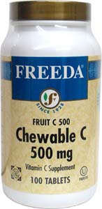 Chewable Vitamin Fruit C Tablets by Freeda
