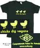 """Chicks Dig Vegans"" Womens Fitted T-Shirt"