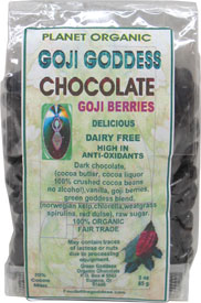 Organic Goji Goddess Chocolate Covered Goji Berries