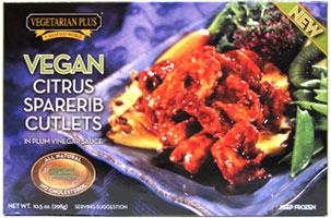Vegan Citrus Sparerib Cutlets by Vegetarian Plus