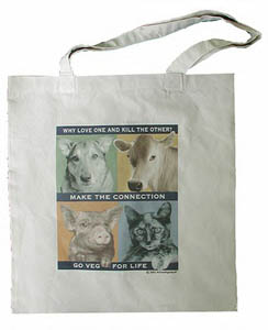 """Make the Connection"" tote by Animal RightStuff"