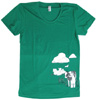 Cow Hugger Women's Fitted Short-Sleeve by Herbivore - Green