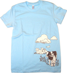 Cow Hugger Women�s Fitted Short-Sleeve by Herbivore Clothing