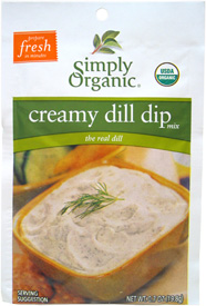 Creamy Vegan Dill Dip Mix by Simply Organic