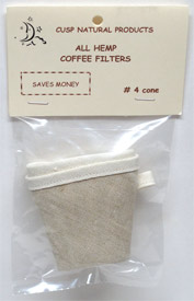 Reusable Cone-Style Hemp Coffee Filters by Cusp