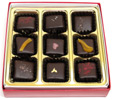 9 Piece Vegan Holiday Gift Caramel Box by Desiderio Chocolates